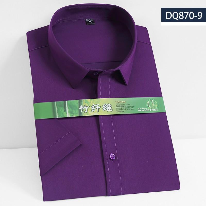 2019男士竹纤维短袖衬衫DQ870-9
